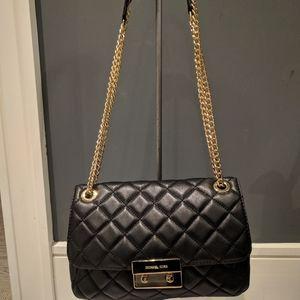 Michael Kors Handbag Black with golden chain